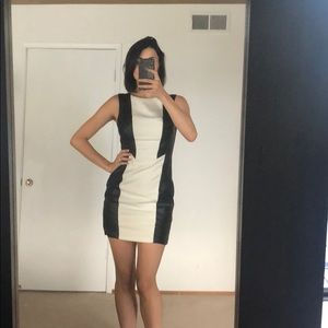 Short black and white dress size small